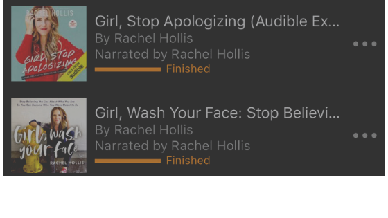 Here's a great tip I learned from Rachel Hollis…