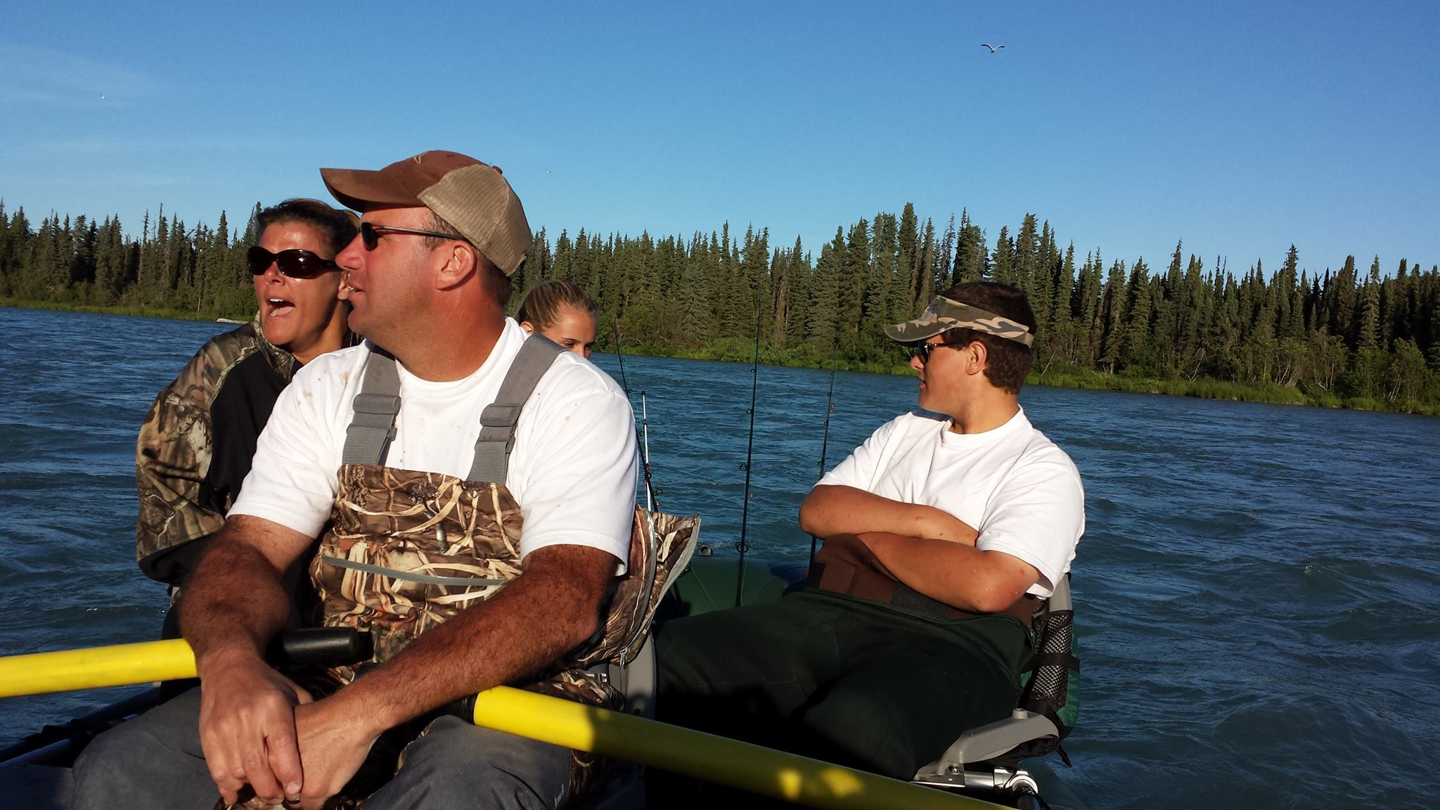 Family fishing trip on the Kenai