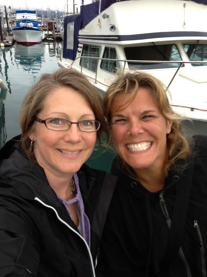 Fellow Alaskan Boot Camper Dr Stacey Lowe and i in Seward, Alaska