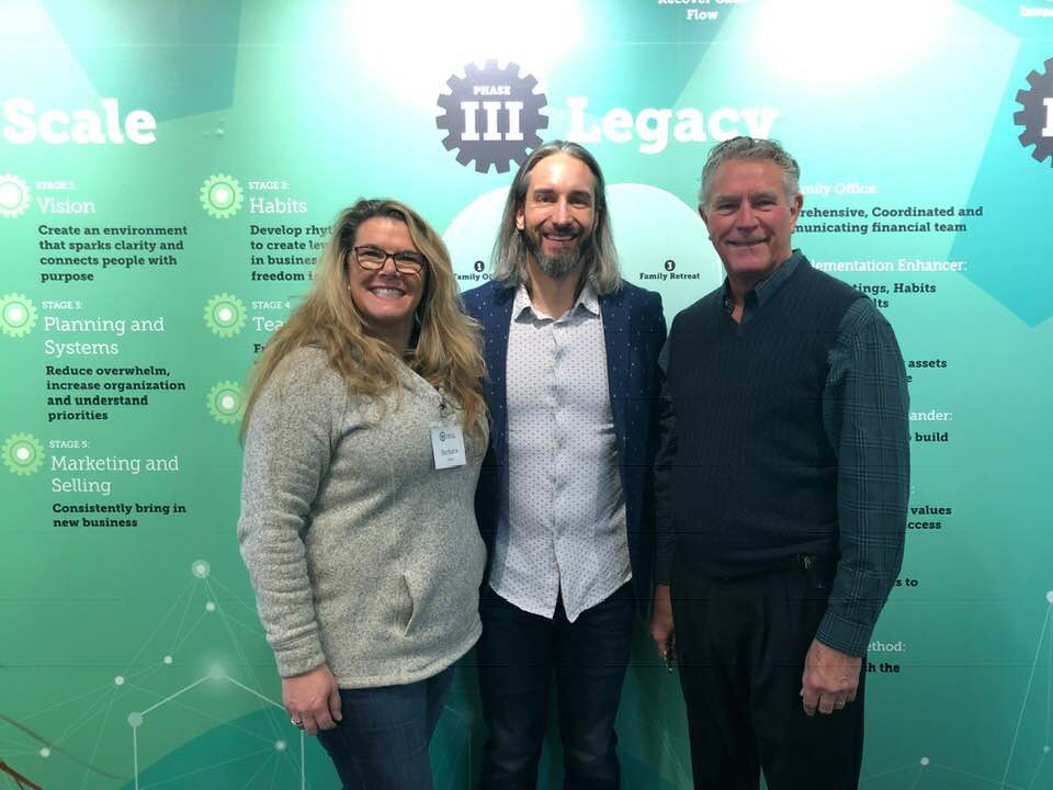 My dad and I with Garrett Gunderson at the Wealth Factory